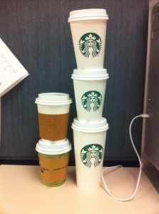 too many coffee cups!