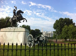 Lafayette salutes the White House