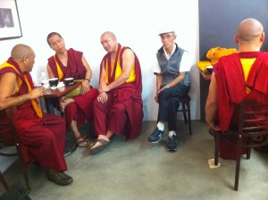 Tibetan monks like coffee, too