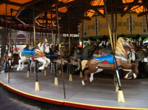 Carousels: The epitome of an endless journey, the only point of which is enjoyment.