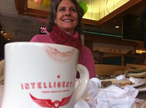 Coffee with Mom on New Year's Day.