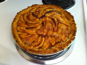 My ill-fated apple pie. The low point of my baking career.