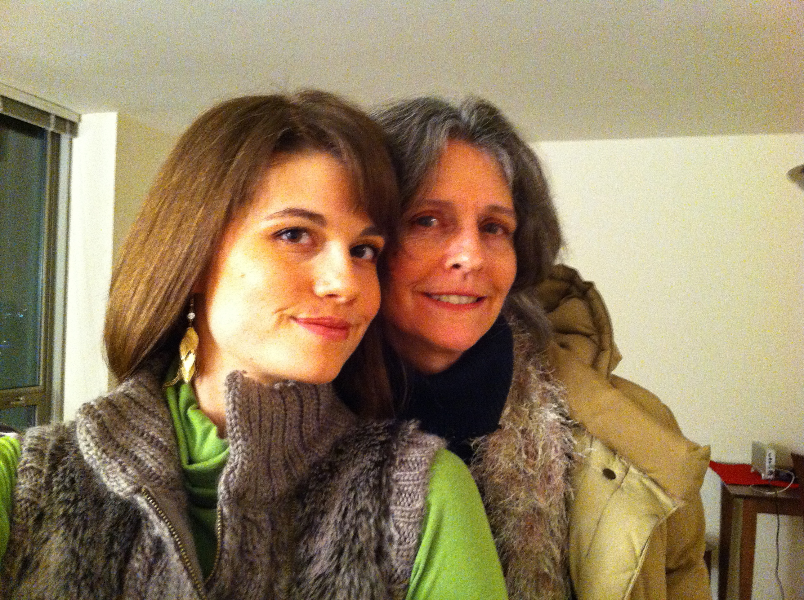 Mom and I ready to go out for New Year's partying!