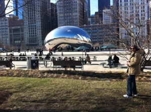The Bean, formally known as Cloudgate. I can't imagine having to clean the fingerprints off of it.