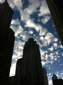 Trib Tower, look particularly Gotham-esque.