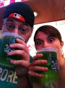 It was beer. It tasted green. Green is not a good flavor for beer.