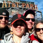 At AT&T Park, watching the game after the Giants secured a playoff spot. Anticlimactic, but a great excuse to be together.