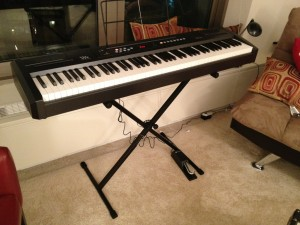 Eighty-eight real, weighted keys sitting in my living room.