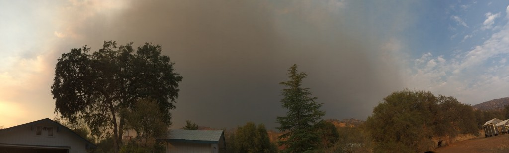 The smoke on the day we packed to evacuate.